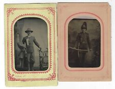 Pair of Tintypes of a light Artillery Officer at the Columbian Exposition