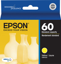 New Genuine Epson T0604 Yellow Ink Cartridge, Stylus C68, CX4200, Stylus CX4800
