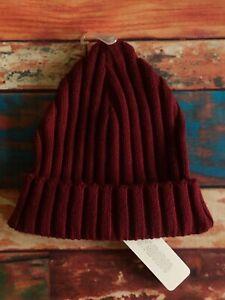 Gymboree Girls Beanie Hat XS S 4-6 Burgundy Knit New