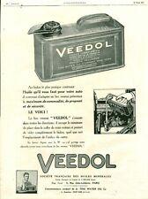 Publicité ancienne voiture automobile huile Veedol 1925 issue magazine