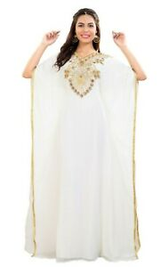 Hand Made Dress Arabian Jellebiya Farasha Boho Abaya Beach Kaftan Dress 7910