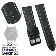 PU Leather Alligator Replacement Band Strap for Samsung Gear S3 Frontier Classic