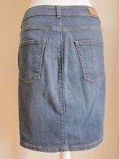 New Womens Marks & Spencer Blue Denim Skirt Size 12 DEFECT