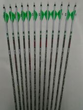 12- Carbon Express Maxima RED SD Badlands 250 Custom Arrows w/ Blazer Vanes