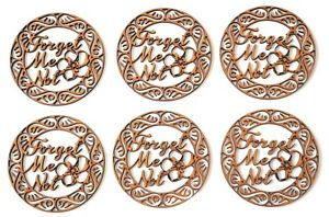 Dementia awareness MDF sign - Forget Me Not in Celtic circle - set of 6 items
