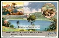 Italy Lakes Laghi  Nemi And Albino c50 Y/O Trade Ad Card
