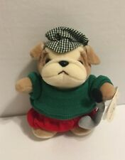 "Bestever Inc Golf Bulldog Plush Stuffed Animal 6"" Golfer Fathers Day Grandfather"