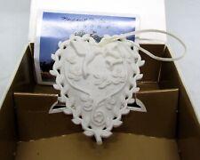 Margaret Furlong Love Song Bisque Porcelain Ornament Heart Shaped Hummingbird