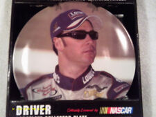"[N12] NASCAR JIMMIE JOHNSON 8"" PORCELAIN COLLECTOR PLATE W/WALL HANGER 2003"