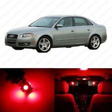 19 x Red LED Interior Light Package For 2002 - 2008 Audi A4 S4 B6 Sedan Only