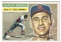 1956 Topps baseball card  #77 Harvey Haddix St. Louis Cardinals ~ EX+
