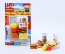Food Iwako Japanese Eraser Fast Food Gift Card Set #38331