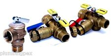 """3/4"""" Tankless Water Heater Isolation Valve Kit with PRV"""