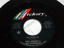 Don Gibson & Sue Thompson: Go With Me / The Two of Us Together  [Unplayed Copy]