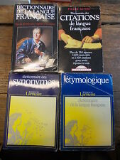 Lot de 4 dictionnaire de la langue française, citations et synonymes