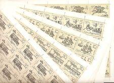 USSR 1987..n° 5433-37 MNH ** YT 87€...14th-16th CENTURY POSTRIDER.(5 SHEETS)