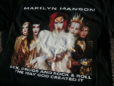 Original New Marilyn Manson Sex Drugs Rock Roll 1999 Tour shirt XL Kylie Jenner