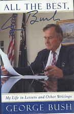 George Bush signed All The Best - 1999 VG+/NF
