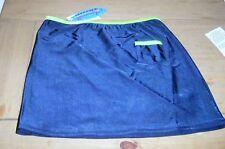 Bonito Calidad Bañador Falda Azul Marino Con Naranja o verde borde 2-3, 3-4,