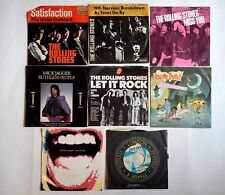 8 x Rolling Stones Singles 7 / 45  - Satisfaction / Let It Rock / Harlem Shuffle