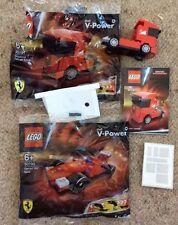 LEGO SHELL V POWER FERRARI RACE CAR FI 30190 and TRUCK 30191 POLYBAG SETS RARE
