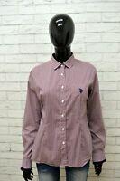 Camicia US POLO ASSN Donna Taglia M Maglia Blusa Shirt Woman Cotone Manica Lunga