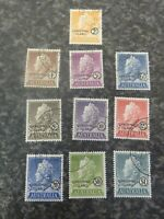 AUSTRALIA CHRISTMAS ISLAND POSTAGE STAMPS SG1-10 VERY FINE USED