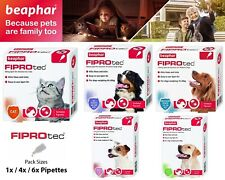 Beapher FIPROtec Spot On Flea Tick Treatment Solution For Cat Dog - S M L XL