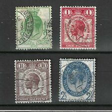 GREAT BRITAIN  KING GEORGE V 1929 POSTAL UNION CONGRESS STAMPS USED