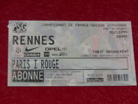 [COLLECTION SPORT FOOTBALL] TICKET PSG / RENNES 5 DECEMBRE 1999 Champ.France