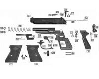 Ricambi in kit per pistola a salve New Police Bruni 8 mm