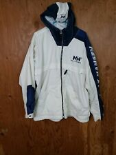 Vintage Helly Hansen Mens Razorfish Vented Hooded Jacket Spellout Large