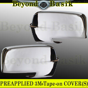 For 2013-2018 Dodge Ram 1500 2500 CHROME Mirror Covers w/Signal on bottom cutout