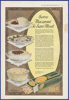 Vintage 1918 GOLDEN AGE Macaroni Food Kitchen Ephemera Print Ad