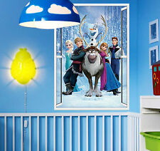 DISNEY PRINCESS FROZEN OLAF WALL STICKER DECAL NURSERY/KIDS/GIRLS/BOYS ROOM