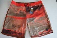 effdd0b0d1 prAna Men's 40 High Seas Board Shorts Dark Khaki Elliott Orange Surf Stretch