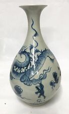 Blue and white dragon vase. Yuan Period.