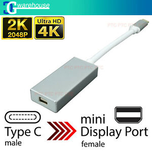 15cm 4K Type-C USB 3.1 To Mini Display Port/MDP Video Converter Adapter Cable