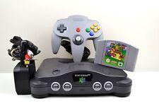 N64 - Nintendo 64 Grey Console (PAL) with Controller & Super Mario 64 Game