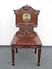 Vintage 19th Century English Regency Ornately Carved Griffin Crest Accent Chair