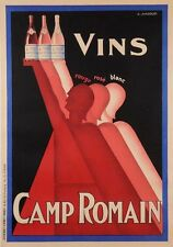 Wine Vins Camp Romain Poster A2 Box Canvas Print