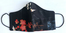 Mund & Nasen Maske • Gr. M Japanische Blumen • Baumwollstoff, Alexander Henry