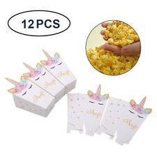 12× Unicorn Theme Favor Bags Paper Treat Candy  Bag Gift For  Kids Birthday G