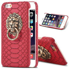 Retro lion 3d ring back protection hard case cover for IPhone 6 6s 4.7 5.5 plus