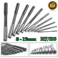 Set Of 3/4/5/6/7/8/9/10/11/12mm Straight Shank HSS Chucking Machine Reamer Drill