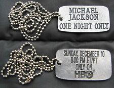Michael Jackson HBO 1995 Concert Dog Tag Pendent Rare