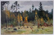 Original European Impressionism Social Realism USSR Oil Painting Landscape
