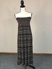 Billabong  black&white strapless maxi dress Aztec print size small Petite