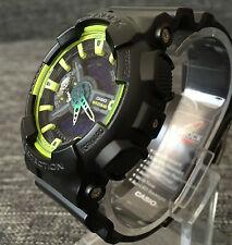 Casio G SHOCK ga-110ly-1a Nero e Verde XLarge Analogico & Digitale 200m WR NUOVO di zecca
