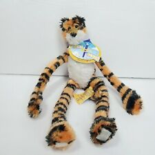 First & Main Hanging Striped Tiger Plush Stuffed Animal Hang round #1654 Orange